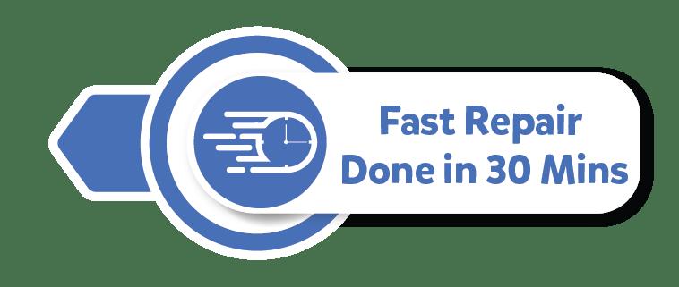 Fast Repair Done in 30 mins
