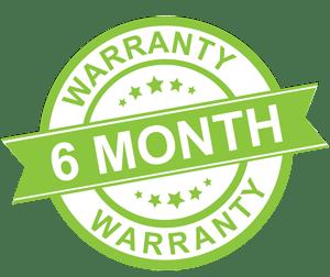 six month warranty